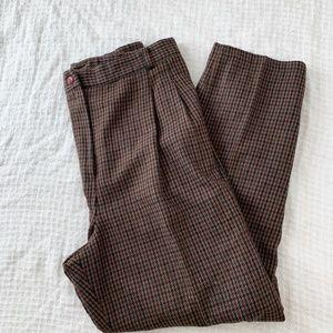 Vintage Pleated High Waist Wool Trouser Pants